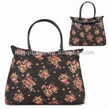 Latest Design Girls Floral Canvas Canvas Tote Handbags