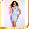 sliver stripe elegant celebrity bandage bodycon dress wholesale