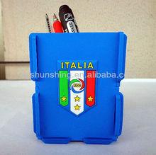 Italy national football team Fans supplies football souvenir silicone rubber pen holder for desk soccer fan pen holder