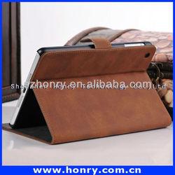 luxury book leather case for ipad mini