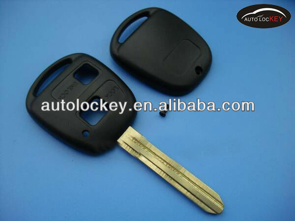Key blank for Toyota 2 button remote key shell no logo with sticker toy43,toyota key fob case