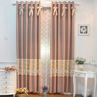 100% polyester jacquard blackout curtain fabric india