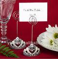 Diseño de la corona la tarjeta del lugar/titulares de la foto con la flor de lis acentos favores de la boda y regalos