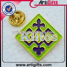 Gold plated metal lapel badge pin badges