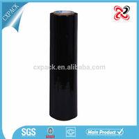 black pe plastic pallet shrink wrap stretch packing film jumbo roll