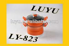 aluminium Non-stick steamer Pot with glass lid