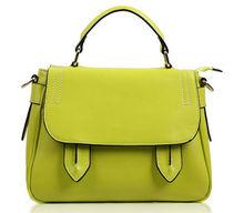 Fashion real leather school shoulder / messenger bag for girls