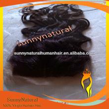 Body wave Indian Human Hair silk base Top Closure4*4
