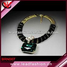 Big Lace Setting Diamond OL Individuality Female Short Necklace