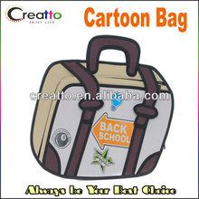 Fashion 3D Cartoon Laptop Bag Handbag Back School Cartoon Bags