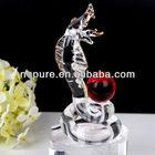 Transparent Crystal Snake Figurine