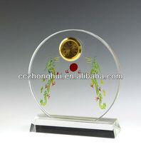 Newest design k9 wedding favor crystal clock