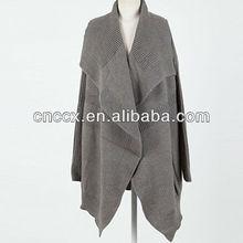 13STC5535 shawl collar cashmere poncho