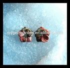 Carved Multi-Color Picasso Jasper Flower Earring