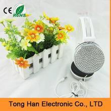 custom good quality bling bling crystal headphone