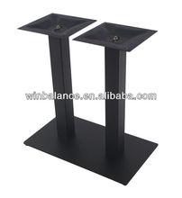 Texture Black Powder Steel Square Metal Table Legs