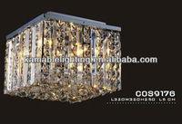 Square Design Crystal Ceiling Chandelier Light