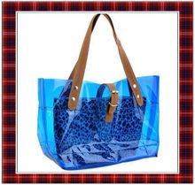 Best Sell Leopard Print PVC HANDBAGS,SUMMER BEACH POUCH BAG (BTYB002)