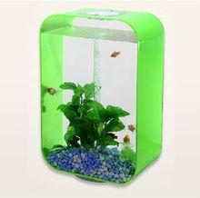 2014 customized with free logo acrylic desktop fish aquarium tank