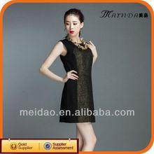 2013 Fashion Collarless Sleeveless Ladies Dress Apparel Manufacturer
