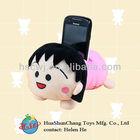 soft cartoon plush phone holder