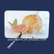 Decorative clear glass cutting board