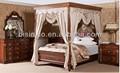 Britânico 18th Century Windsor estilo jogo de quarto, Luxo de dossel de madeira Canopy bed, Palácio real quarto conjunto de móveis