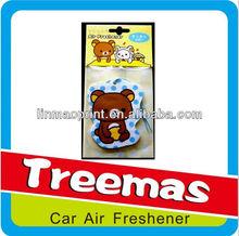 perfume paper air freshener/freshener forcar/auto car freshener