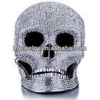 custom stainless steel skull craftwork,stone skull craft