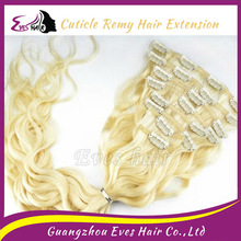 Beauty grade 100% virgin streak color 12''-30'' Clip in hair extension darling hair