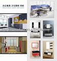 Hl caliente- la venta moderno gabinete de cocina con lámina de pvc