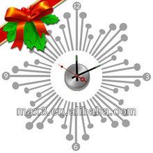 MAX3 Snow Design Christmas Decoration DIY Craft Wall Sticker Clock