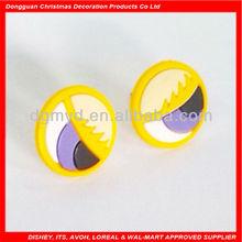 cartoon eyes design soft pvc earrings 2013