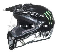 Dirt Bike Helmet wlt-128 New style cross helmet with visor