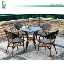 outdoor furniture top quality aluminum PE rattan outdoor dinning set