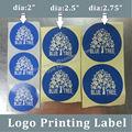Personalizado etiquetas adesivas para embalagens de alimentos, papelrevestido logotipo impressão de etiquetas para sacosdeplástico