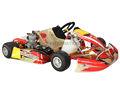 go kart con juego de carreras de chasis