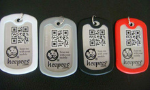 Army dog tags with silencer,stainless steel tag