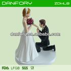 funny Bride and bridegroom wedding cake topper, cake decoration