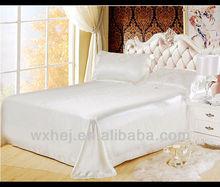 satin fabric white bedding set for hotel
