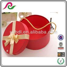 Custom Round Red/Green Wedding Favor Paper Box