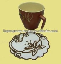Vietnam handmade round embroidery coaster