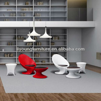 Fashionable Table And Chairs , Comfortable Living Room Furniture , Cheap And High Quality Plastic Chaise Lounge with Footstool