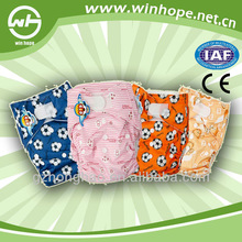 Hot sale!!cotton winhope baby soft cloth baby diaper microfiber insert with and snap button