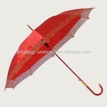High quality 2013 pink lady rain/sun straight umbrella