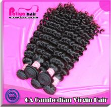 Suave, aseado, no mezclar 100% virgen de camboya profundo rizado ervamatin loción capilar