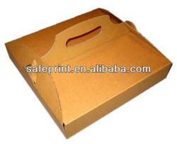 Hot sale Various Disposable Ecofriendly Take Away handle takeaway pizza box