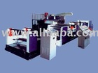 Plastic extruding and film laminating unit