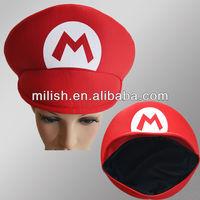 MH-1614 Wholesale Stock Red Mario Hat, Mario Cap