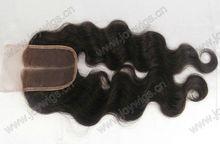 "3.5X4"" Stock 8""-30"" Bleached knots middle part body wave 2# colour brazilian human hair lace closure"